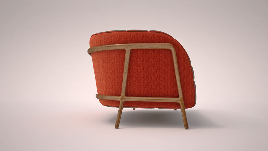 Italien soffa 5 royalty-free 3d model - Preview no. 3