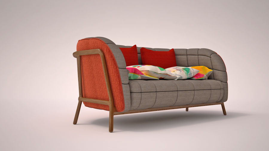 Italien soffa 5 royalty-free 3d model - Preview no. 1
