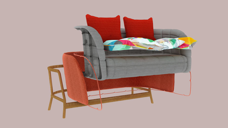 Italien soffa 5 royalty-free 3d model - Preview no. 5