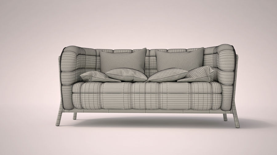 Italien soffa 5 royalty-free 3d model - Preview no. 7