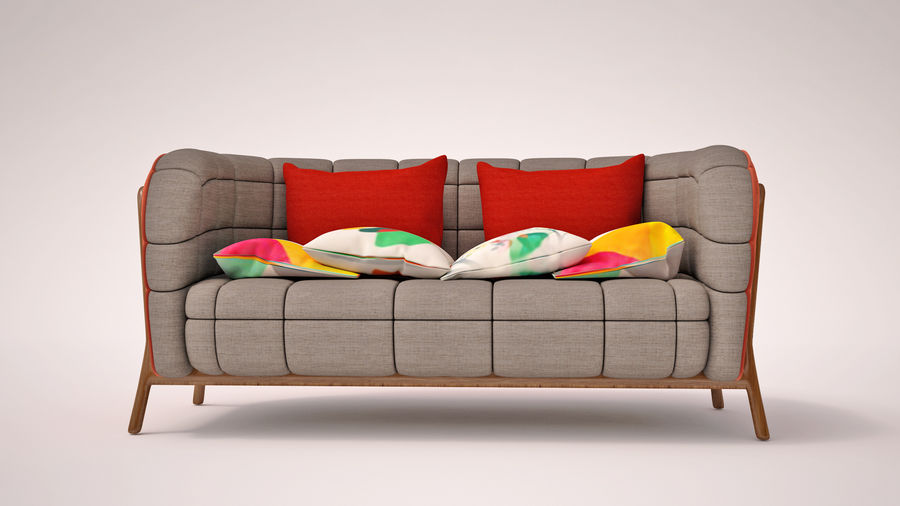 Italien soffa 5 royalty-free 3d model - Preview no. 2