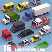 Collection de véhicules 3d model