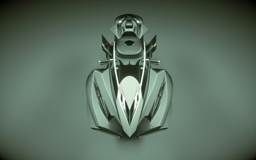 \\ T // Lightning Semi-Hover Bike royalty-free 3d model - Preview no. 8