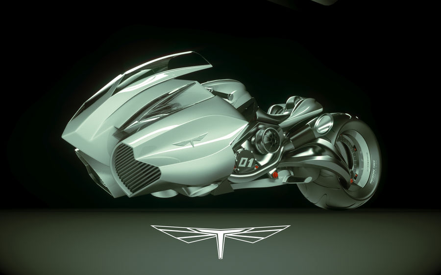 \\ T // Lightning Semi-Hover Bike royalty-free 3d model - Preview no. 1
