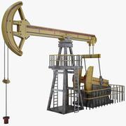 Oil Pump Jack Simple 3d model