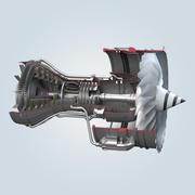 Jet Motor Kesiti 3d model