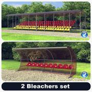 2 Bleachers Set 3d model