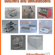 butchers and delicatessens gallery 3d model
