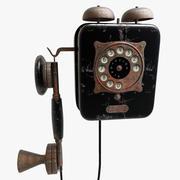 Telefono a muro vintage 3d model