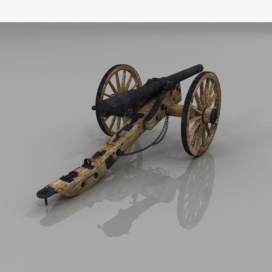 Civil War Cannon royalty-free 3d model - Preview no. 7