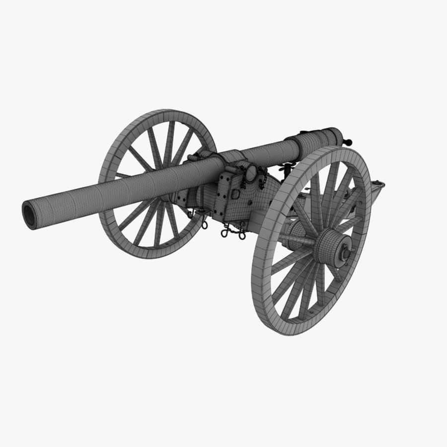 Civil War Cannon royalty-free 3d model - Preview no. 6