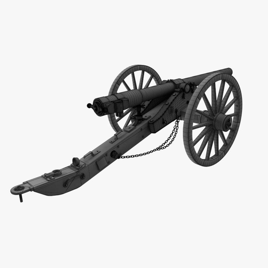 Civil War Cannon royalty-free 3d model - Preview no. 8