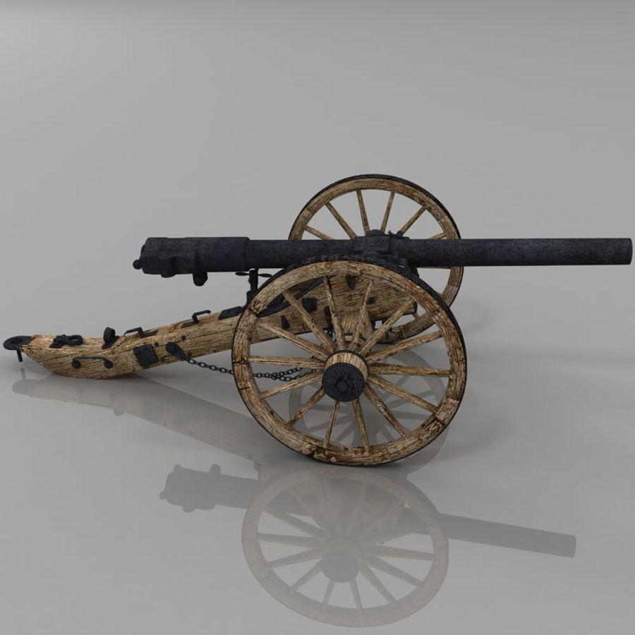 Civil War Cannon royalty-free 3d model - Preview no. 5
