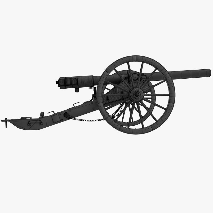 Civil War Cannon royalty-free 3d model - Preview no. 10