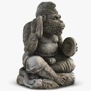 Estatua de mono con platillos modelo 3d
