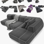 sofá plegable _012 modelo 3d