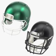 Fotboll hjälmar samling 3d model