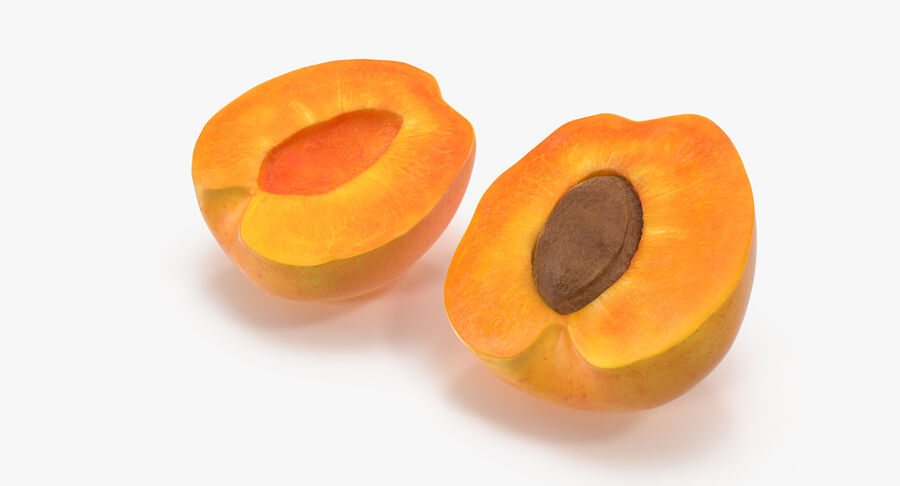 3 Apricot Cross Sections Collection royalty-free 3d model - Preview no. 6