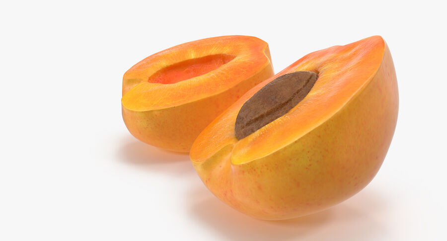 3 Apricot Cross Sections Collection royalty-free 3d model - Preview no. 9
