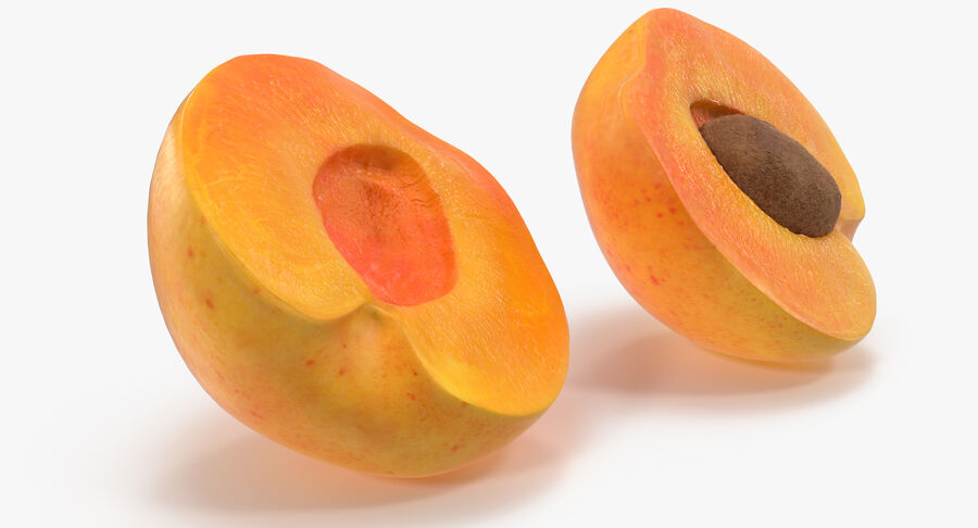 3 Apricot Cross Sections Collection royalty-free 3d model - Preview no. 16
