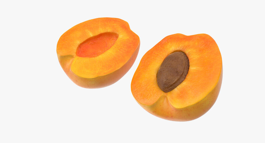 3 Apricot Cross Sections Collection royalty-free 3d model - Preview no. 5