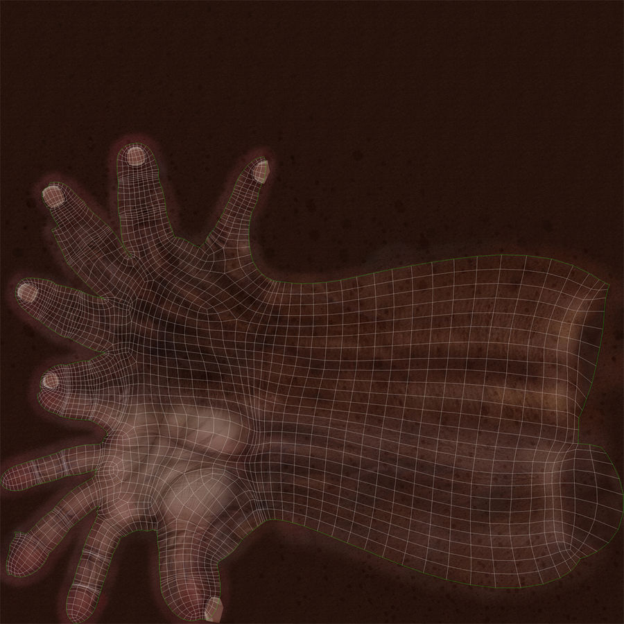 Old African Man Hands Pose 2 royalty-free 3d model - Preview no. 25