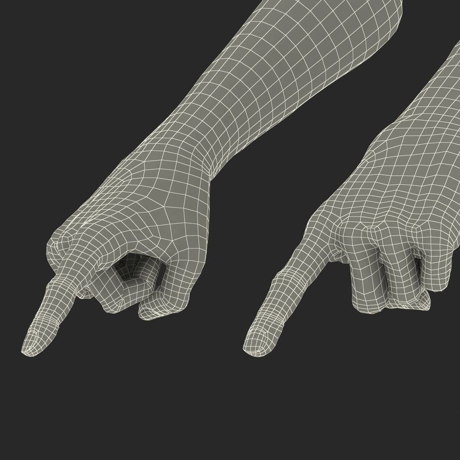 Old African Man Hands Pose 2 royalty-free 3d model - Preview no. 32
