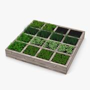 Ogród warzywny 3d model