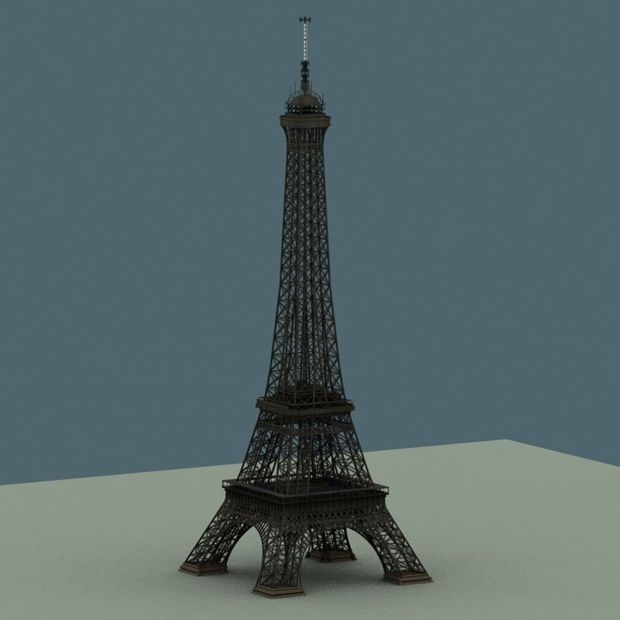 Torre Eiffel royalty-free 3d model - Preview no. 6