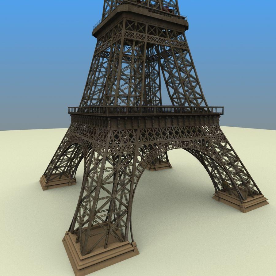 Эйфелева башня royalty-free 3d model - Preview no. 3