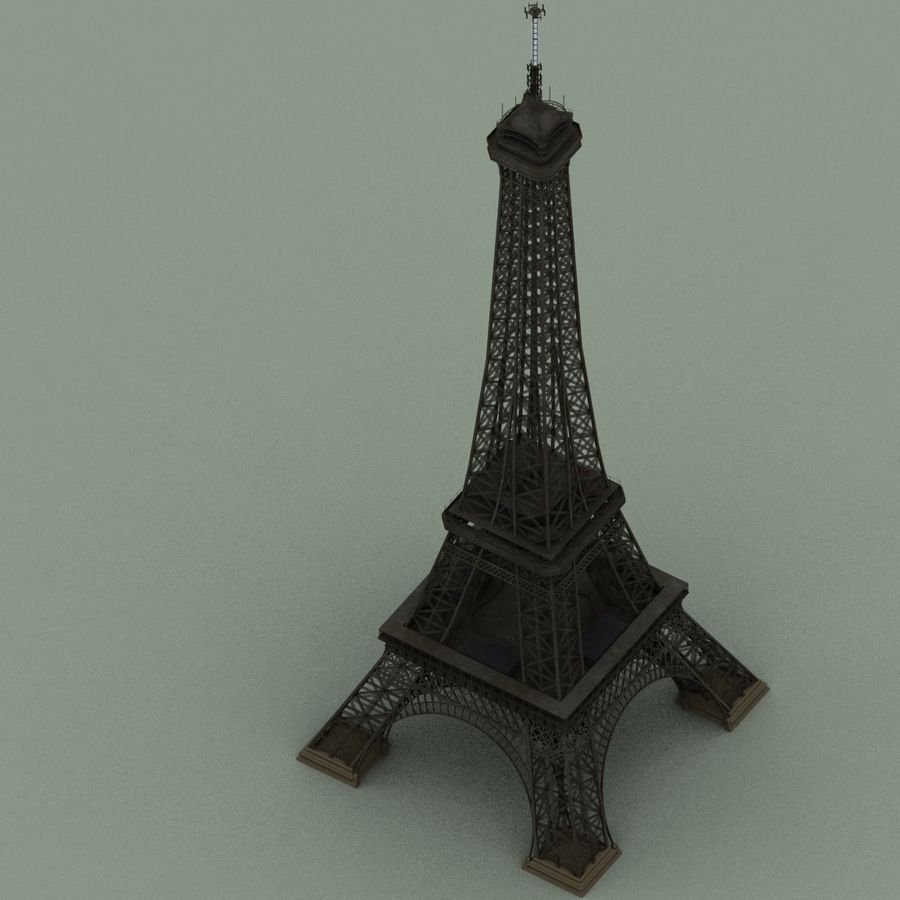 Torre Eiffel royalty-free 3d model - Preview no. 7