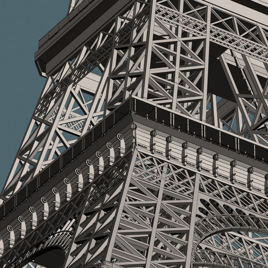 Torre Eiffel royalty-free 3d model - Preview no. 19