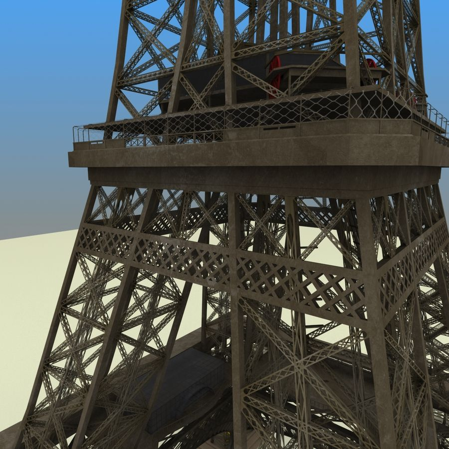 Эйфелева башня royalty-free 3d model - Preview no. 4