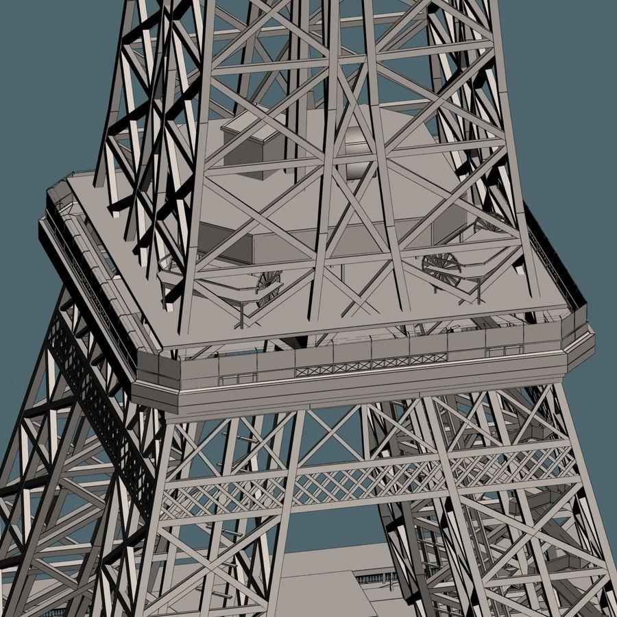 Эйфелева башня royalty-free 3d model - Preview no. 16