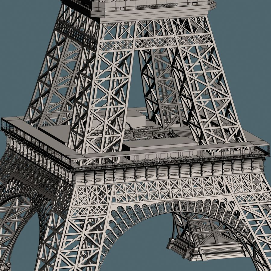 Torre Eiffel royalty-free 3d model - Preview no. 17
