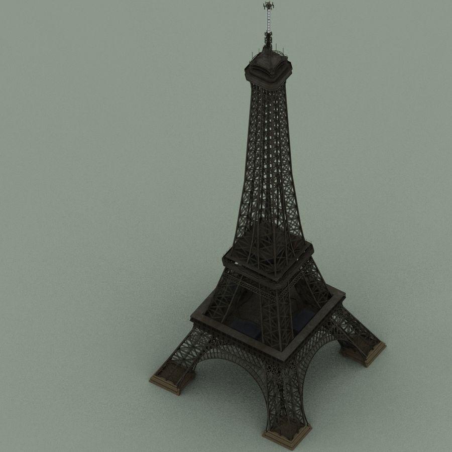 Эйфелева башня royalty-free 3d model - Preview no. 7
