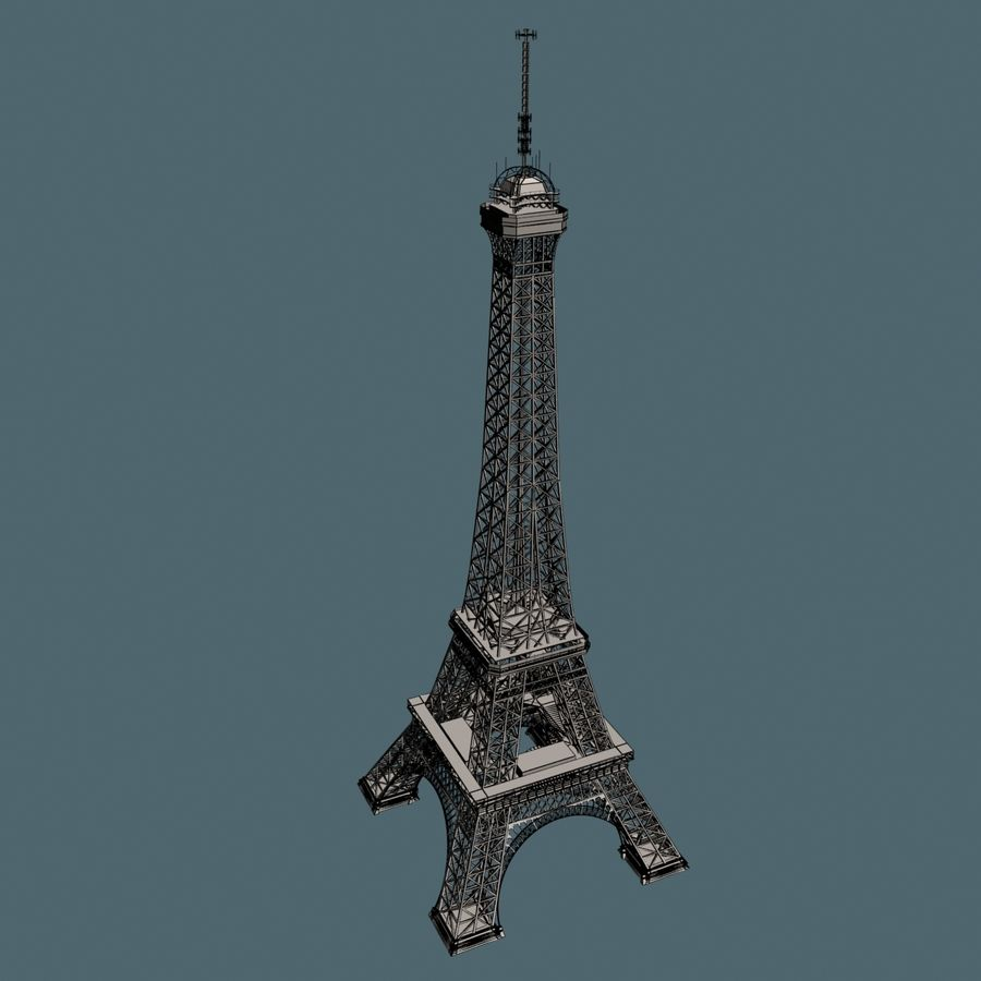 Torre Eiffel royalty-free 3d model - Preview no. 13