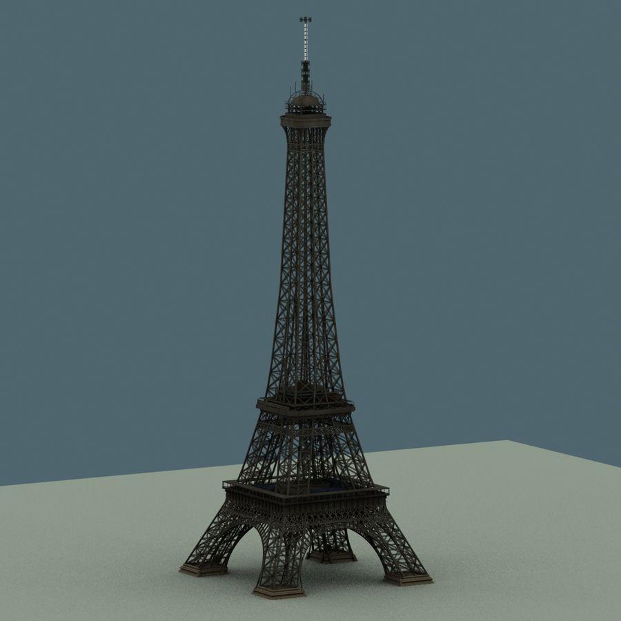 Эйфелева башня royalty-free 3d model - Preview no. 6