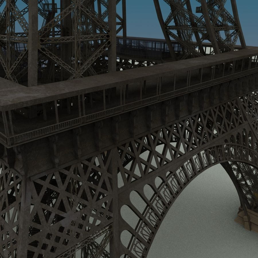 Эйфелева башня royalty-free 3d model - Preview no. 10