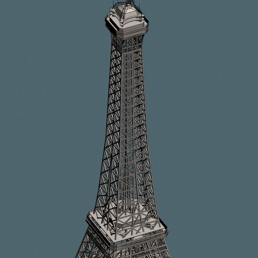Эйфелева башня royalty-free 3d model - Preview no. 15