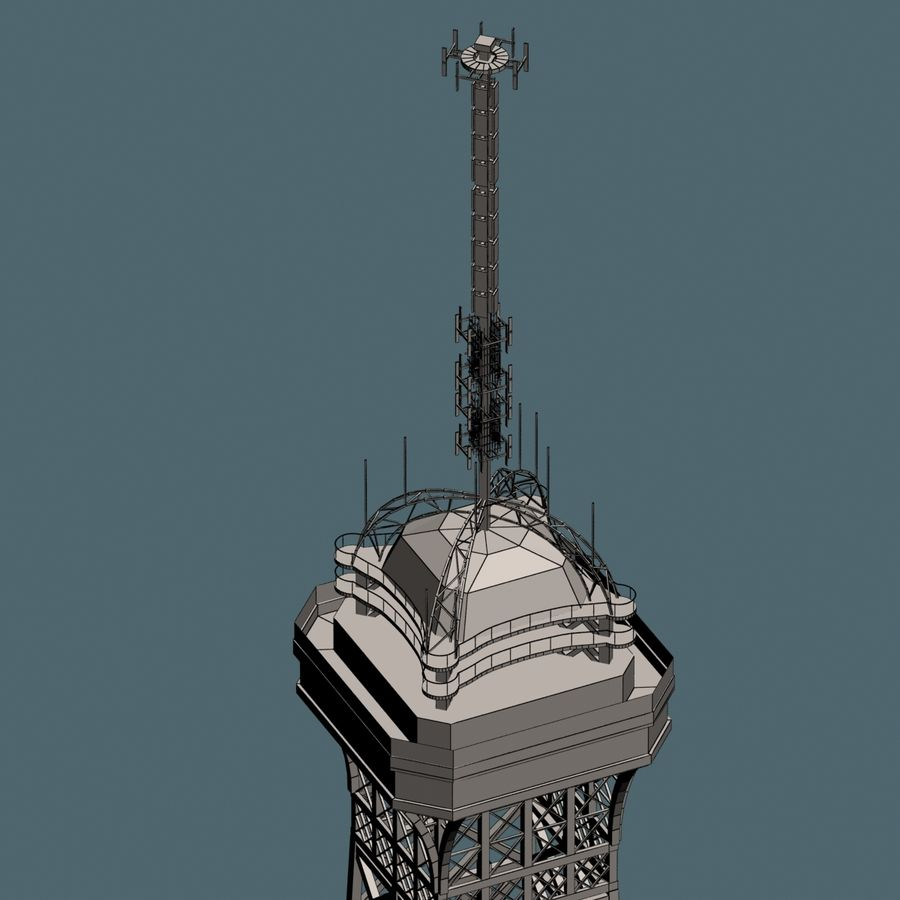 Torre Eiffel royalty-free 3d model - Preview no. 14
