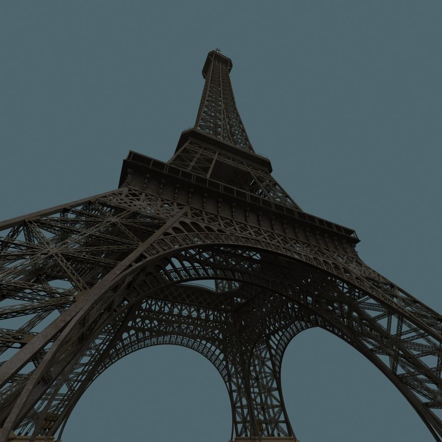 Эйфелева башня royalty-free 3d model - Preview no. 5