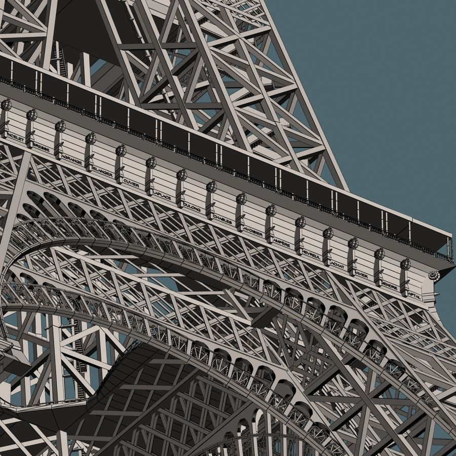 Эйфелева башня royalty-free 3d model - Preview no. 18