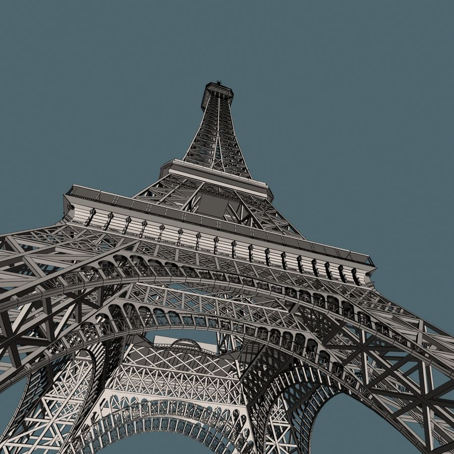Torre Eiffel royalty-free 3d model - Preview no. 20