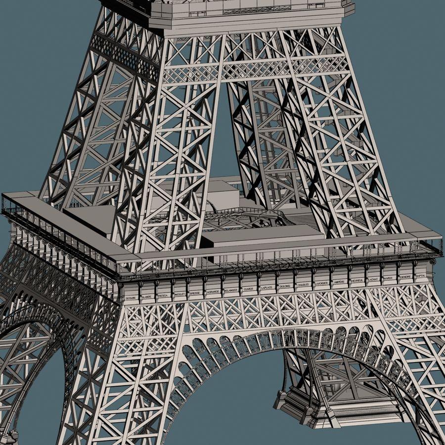 Эйфелева башня royalty-free 3d model - Preview no. 17