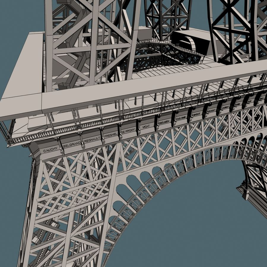 Torre Eiffel royalty-free 3d model - Preview no. 21
