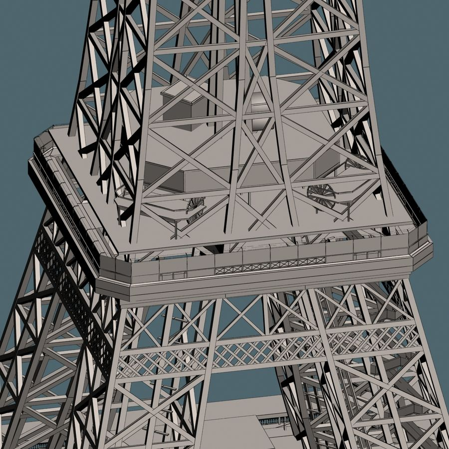 Torre Eiffel royalty-free 3d model - Preview no. 16