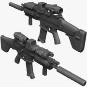 FNSCAR L-CQC Штурмовая винтовка, Подавитель, Прицел, ИК-лазер, Magpul, Scope Zbrush Sculpt 3d model