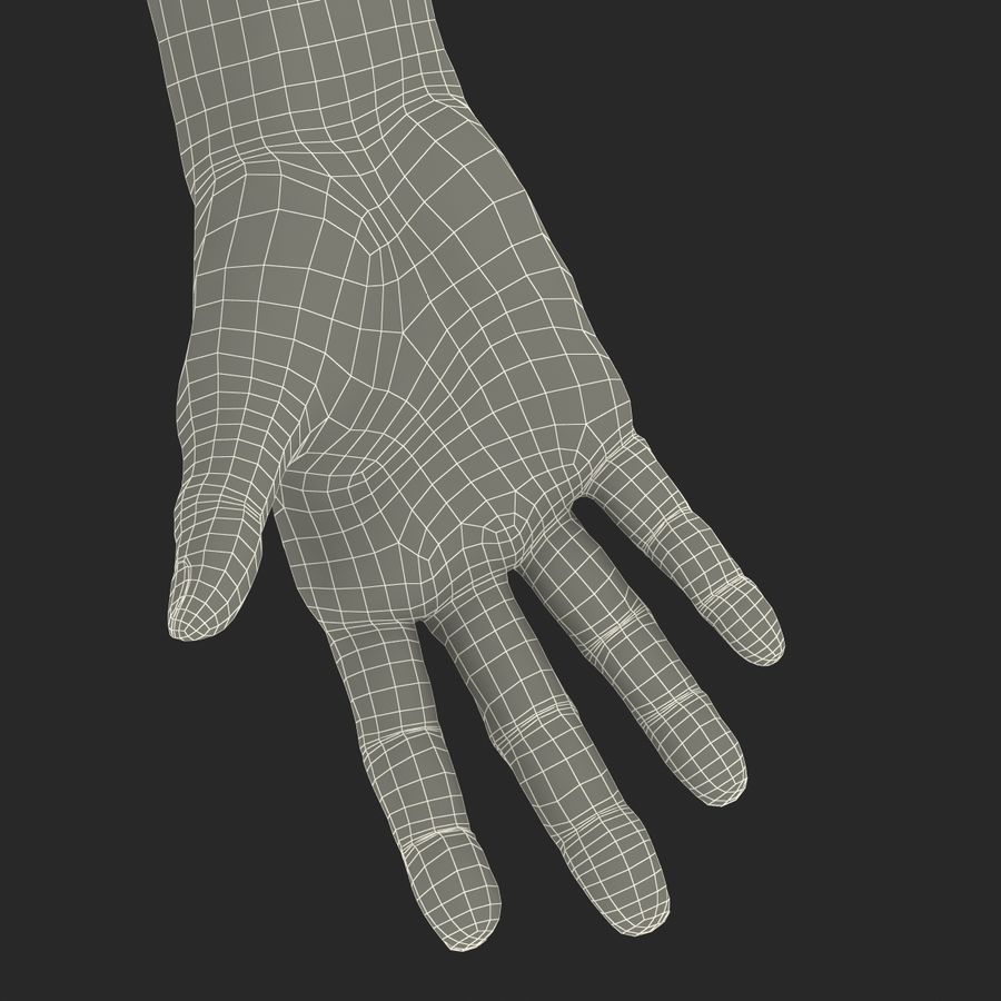 Old Man Hands 2 royalty-free 3d model - Preview no. 37