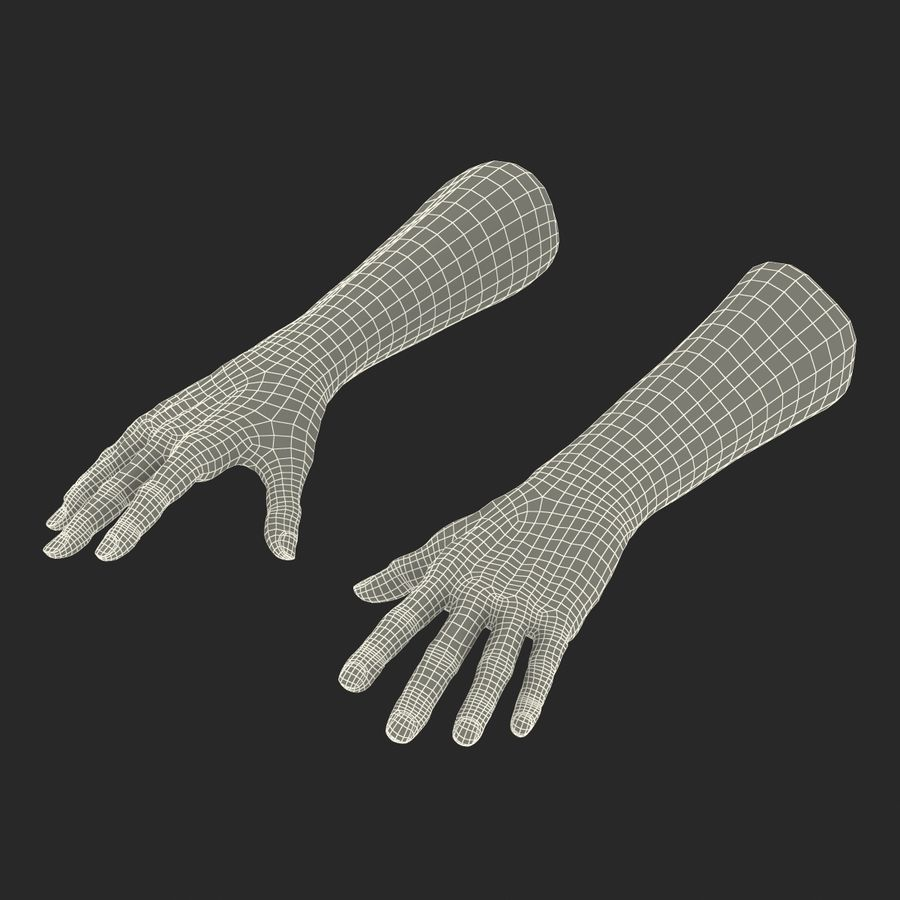 Old Man Hands 2 royalty-free 3d model - Preview no. 29